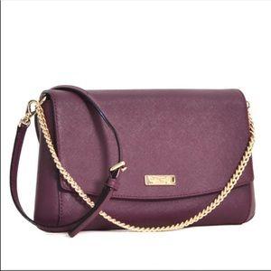 NWT Kate Spade Laurel Way Greer Plum Crossbody Bag